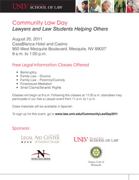 Community Law Day flyer