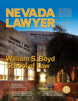 Nevada Lawyer - September 2011 issue