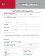 Alumni Association Application