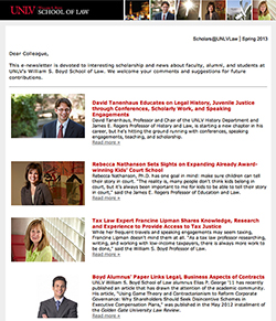 Thumbnail of E-newsletter