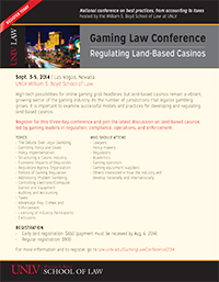 Gaming Law Conference 2014 Flyer