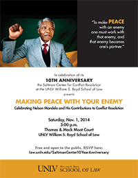 Saltman Center 10th Anniversary Celebration Flyer