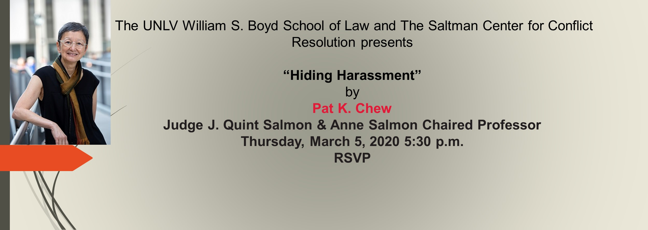Hiding Harassment by Pat K. Chew