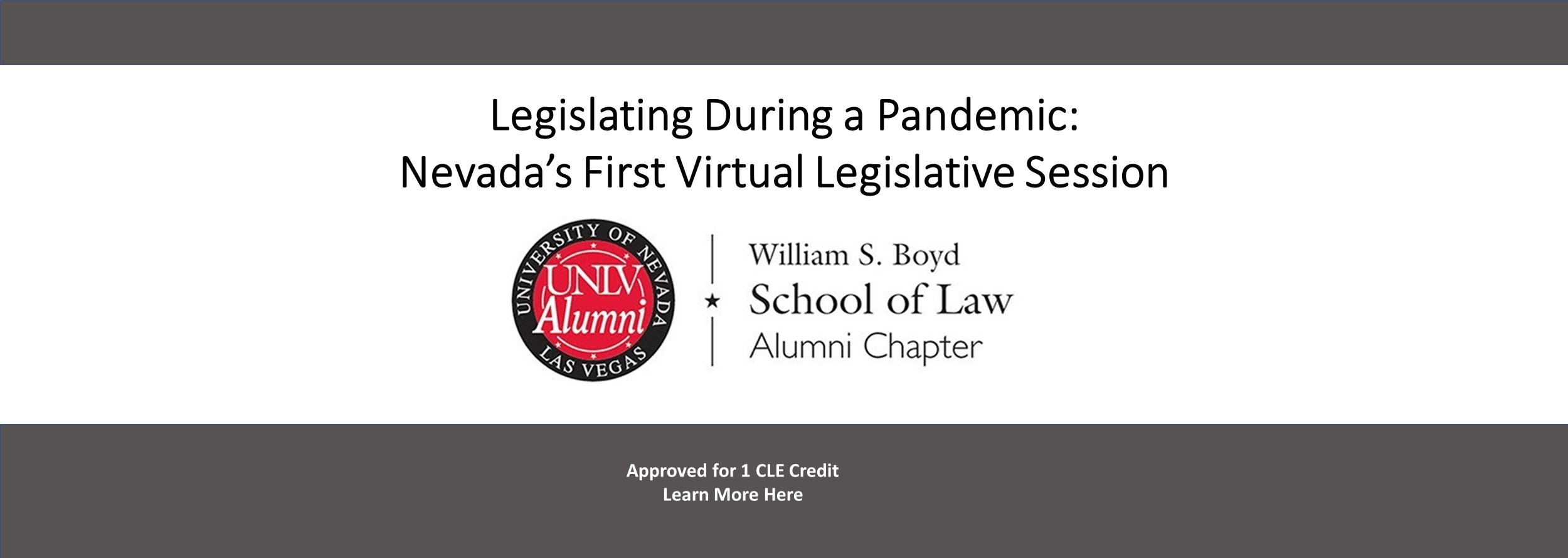 Legislating During a Pandemic: Nevada's First Virtual Legislative - Session Approved for 1 CLE credit