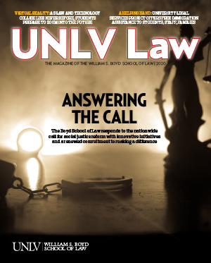 Cover of the 2020 UNLV Law Magazine
